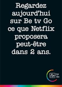 Betv vs Netflix Belgique
