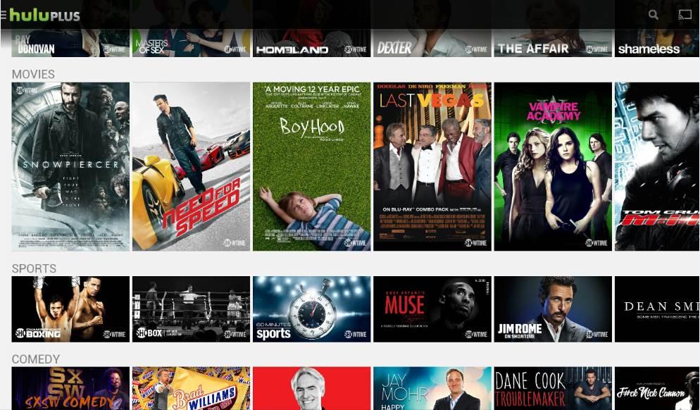 Showtime programmes - VOD-Belgique